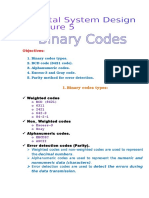 Lecture 5 Binary Codes