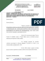 modelo de despacho administrativo de dispensa de licitação inciso I do artigo 24 da Lei Federal nº 8666/93
