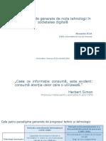 Transformările Generate de Noile Tehnologii În Societatea Digitală Alexandru Roja