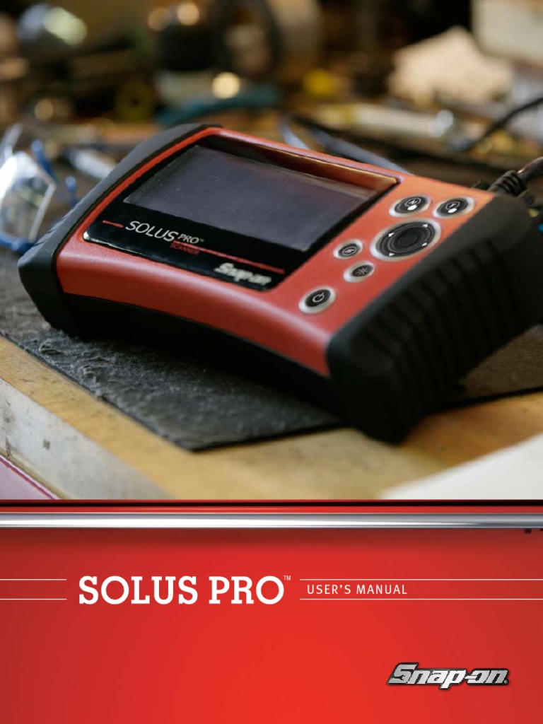 snap on solus pro users manual battery charger power supply rh es scribd com solus pro scanner manual en español Snap-on Solus Pro Scanner