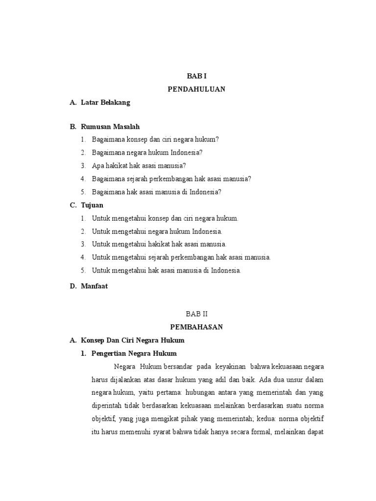Makalah Konsep Negara Hukum Indonesia
