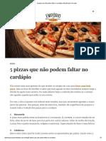 5 Pizzas Que Não Podem Faltar No Cardápio _ Blog Empório Do Lazer