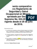 Instrumento Comparativo Del Nuevo Reglamento de Seguridad y Salud Ocupac...