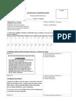 Evaluación ABRIL 5° básico 2017 - Género narrativo texto expositivo propósito de autor comparar causa y ef conectores - KT