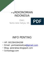 Bahan Ajar Perekonomian Indonesia