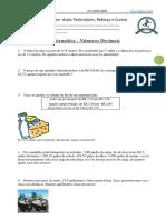 Matemática - Números Decimais -Fácil
