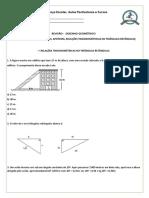 Matemática - Desenho Geométrico - Área e Volume Dos Polígonos, Apótema, Relações Trigonométricas No Triângulo Retângulo
