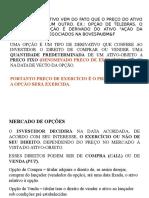Derivativos e Mercado Opções