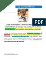 De Castilla Urbina, Miguel. Calidad de La Educación y La Investigación. 2016, 26 Pp.