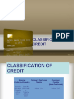 Credit Power Point_Classification of Credit