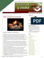 Historia y Evolución de La Gastronomía  de Recetas y Cocina