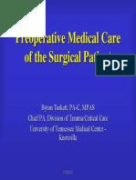 Preoperative Care Turk Ett