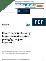 El Reto de La Inclusión y Las Nuevas Estrategias Pedagógicas Para Lograrlo