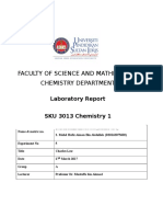 electrochemistry lab report conclusion
