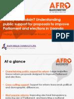 Uganda Afrobarometer Report 2017