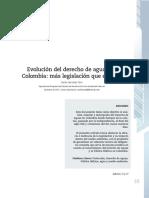 4. Evolución del derecho de aguas en Colombia, más legislación que eficacia.pdf
