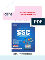 Disha Publication SSC Multitasking Solved Paper 2013