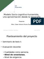 Modelo Socio-cognitivo-humanista, una aproximación desde la Geografía