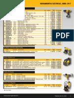 Lista de Precios DEWALT Abril 2017