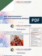 3S Why Sandhyavandan