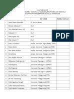 Daftar Hadir Workshop Terbaru