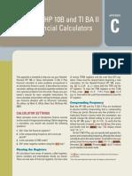 Appendix C - Using the HP 10B and TI BA II Plus Financial Calculators