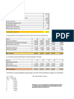Cash Flow Assignment