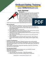 2Jack Hammer Instruction