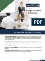 Catálogo Maestrías Educación At