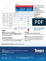 Tempra Dosage Chart