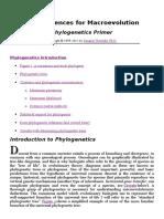 Phylogenetics Primer