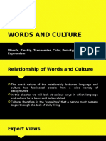 Words and Culture