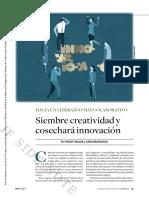 Siembre Creatividad y Cosechará Innovación