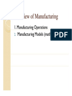 Lec 2, 3 Overview of Manufacuring