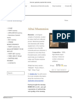 Mummies_ Application, Properties Altai Mummies