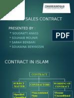 islamic sales contract