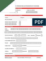 Formulario Candidatura Procedimento Concursal