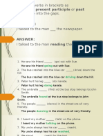 Participle Answers