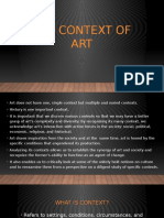 The Context of Art