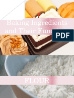Baking ingredients and functions