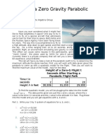 math 1010 project 2 zero gravity project