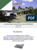 La Maison Solaire Autonome Hors Réseau à Montebello1