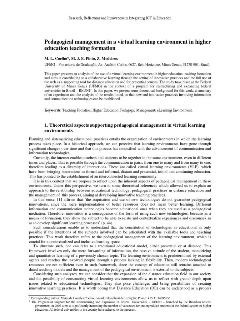 Pedagogical management in education 39