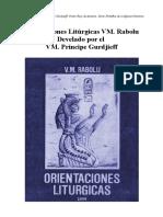 Orientaciones Liturgicas VM Rabolu Develado Por VM Príncipe Gurdjieff