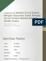 Glaukoma Absolut Occuli Dextra Dengan Glaucoma Sudut Terbuka
