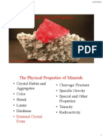 Mineral Physical Properties Reference