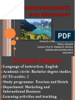 Course Format Tourism Resources and Geography