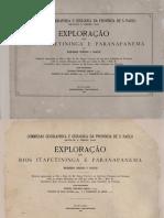 Exploração Dos Rios Itapetininga e Paranapanema Teodoro Sampaio 1889