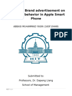 Impact of Brand Advertisement on Consumer Behaviour in Apple Smart Phone