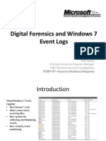 Digital Forensics and Windows 7Event Logs